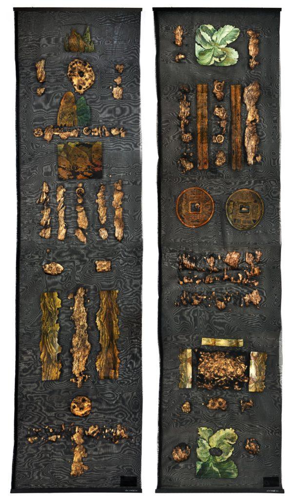 Antoni Kowalski Pamiątka z Chin I-II tech. wł. 280x 140 cm dyptyk 2010-11