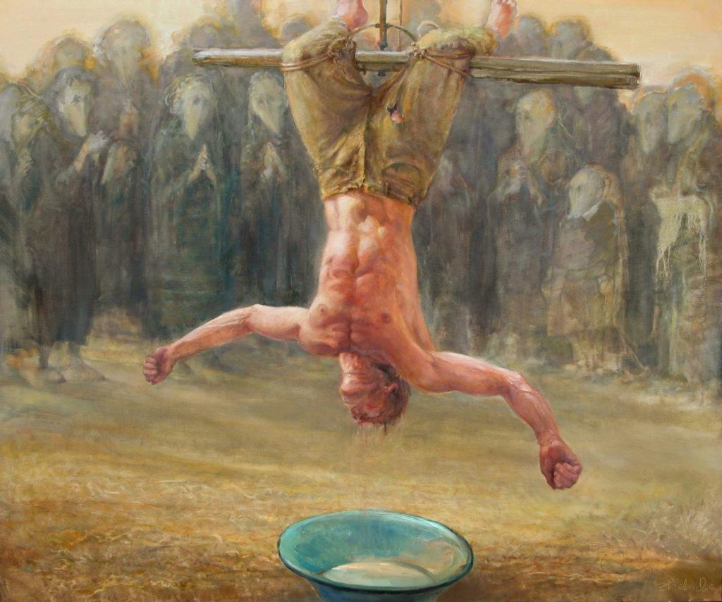 Daniel Pielucha, Litania pod krępieżem, olej, 100 x 110 cm, 2006r. wł. autora